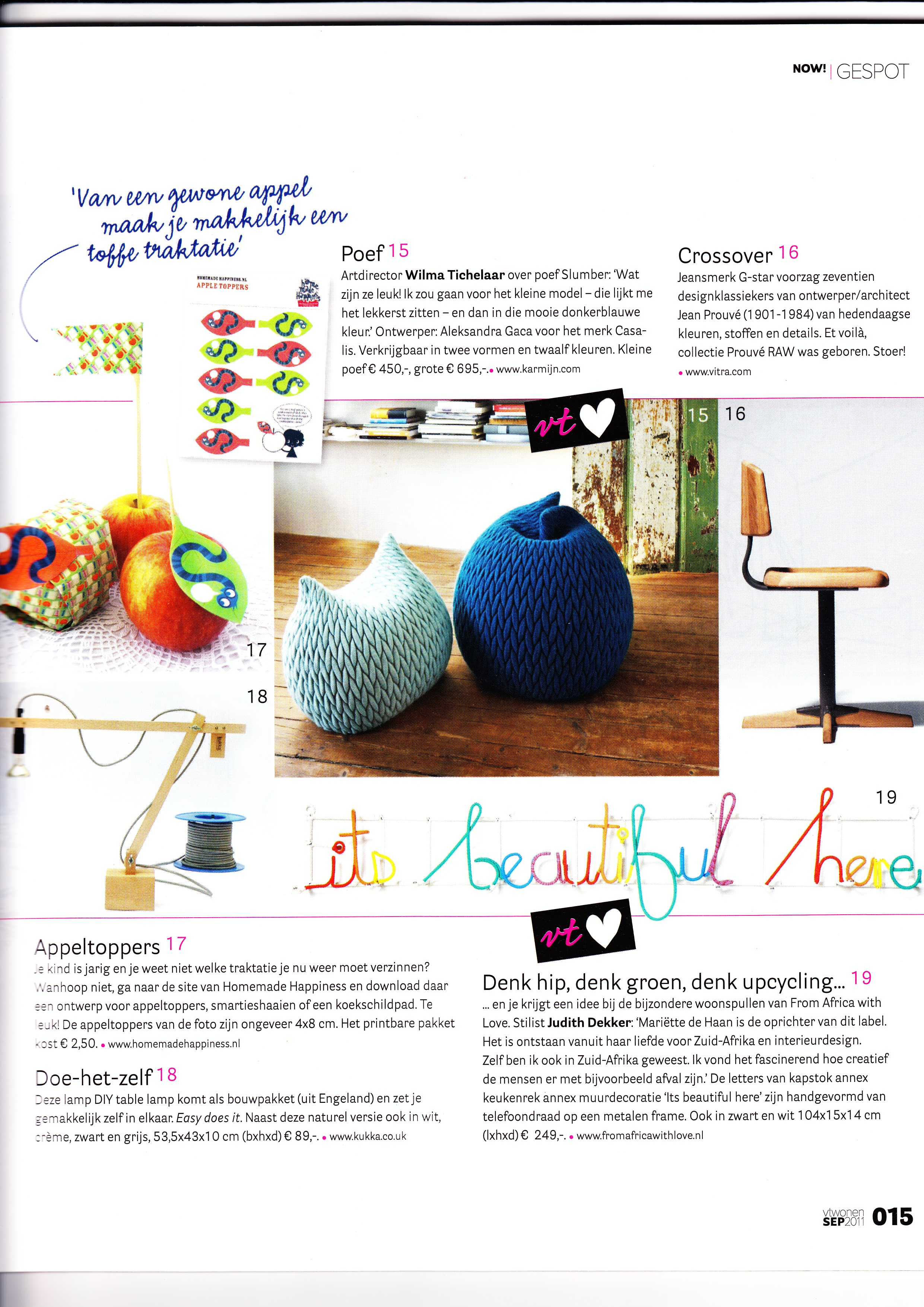 VT Wonen magazine Sept 2011 Its Beautiful Here Editors favourite